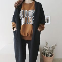 DAILY LOOK - Round-Neck Lettering Pullover