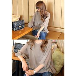 REDOPIN - Puff-Sleeve Top