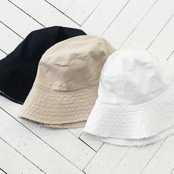 NANING9 - Frey-Trim Cotton Hat