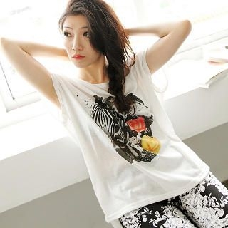 BAIMOMO - Zebra-Print T-Shirt
