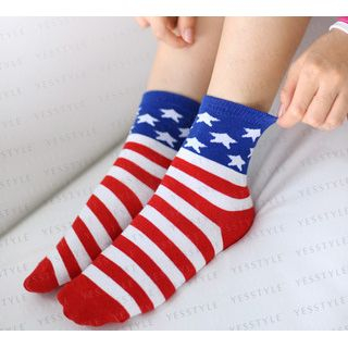 59 Seconds - Set of 2: America Flag Socks