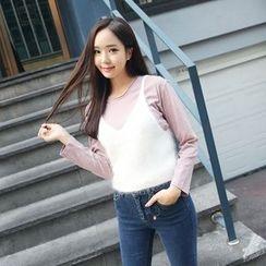 Envy Look - Wool Blend Bustier Top