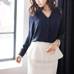 MASoeur - Long-Sleeve Colored Blouse