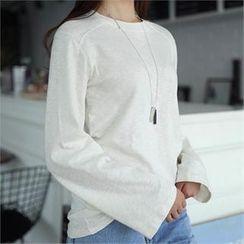 CHICFOX - Long-Sleeve Mélange T-Shirt