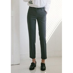 GOROKE - Cuff-Hem Tapered Dress Pants