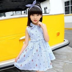 YIKASONG - Kids Sleeveless Floral Dress