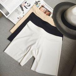 SHERRY - 纯色打底短裤