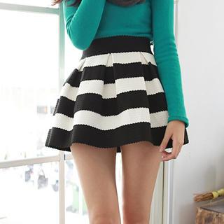 LULUS - Striped Jacquard Mini Skirt