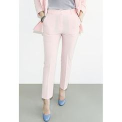 INSTYLEFIT - Flat-Front Straight-Cut Pants