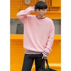 GERIO - Contrast-Trim Sweater