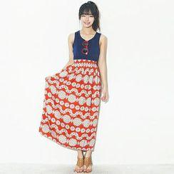 Beccgirl Color-Block Maxi Dress