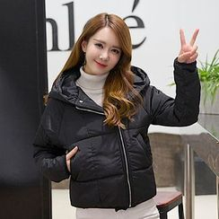 Heybabe - Plain Cropped Padded Jacket