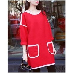 Sienne - Long-Sleeve Woolen Dress