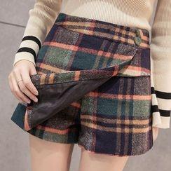Maine - Plaid Layered Skirt