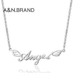 AINIAN - 925 Sterling Silver Angel Necklace