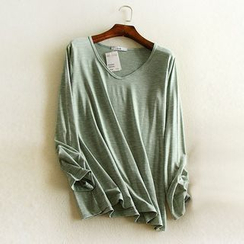 LaRos - Long-Sleeve Plain T-Shirt