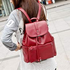 miim - Genuine Leather Drawstring Backpack