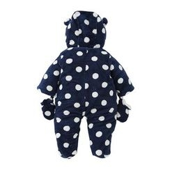 JIMIJIMI - Baby Polka Dot Hooded One-Piece