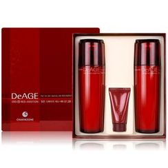 Charm Zone - DeAGE Red Addition Set: Skin Toner 110ml + Emulsion 110ml + Control Cream 15ml