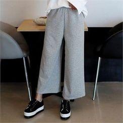 CHICFOX - Fleece-Lined Wide-Leg Pants