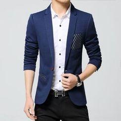 Keerme - Stripe-Pocket Blazer