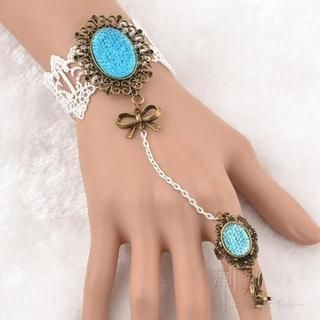 Trend Cool - Jewel Accent Crochet Ring Bracelet