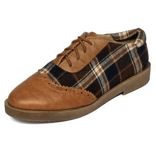 yeswalker - Wingtip Plaid Oxfords