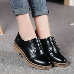 Pretty in Boots - Low Heel Gradient Oxfords