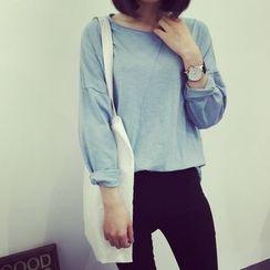 A7 SEVEN - Plain Long-Sleeve T-shirt
