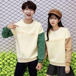 Azure - Couple Matching Color Block Sweatshirt