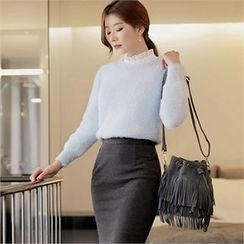 CHICLINE - Round-Neck Knit Sweater