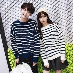 Azure - Couple Matching Striped Sweater