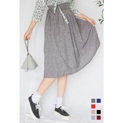Dalkong - Long Pleated Hanbok Skirt