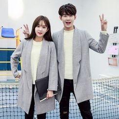 Azure - Couple Matching Long Woolen Coat