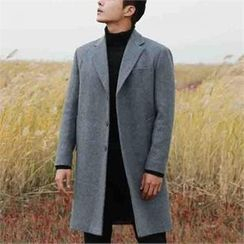 BYMONO - Notched-Lapel Wool Blend Coat