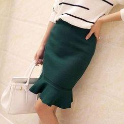 Makoumak - Ruffle Knit Skirt