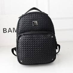 Bibiba - Woven Faux Leather Backpack