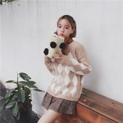 QZ Lady - Check Sweater