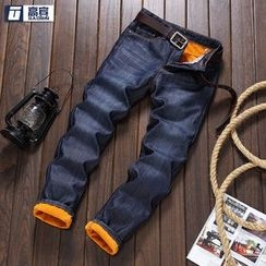 AOBIN - 毛里直筒牛仔裤