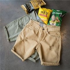 Soulcity - Ripped Chino Shorts