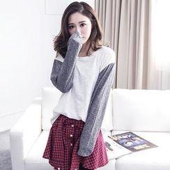 LULUS - Contrast-Color Long-Sleeve T-Shirt