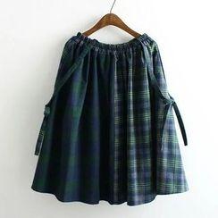 Suzette - 格紋背帶裙子