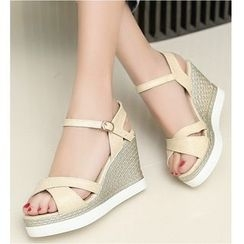 TULASI - Ankle Strap Wedge Sandals