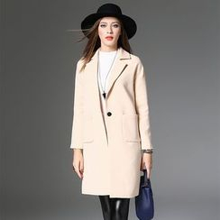Y:Q - Notch Lapel Long Coat