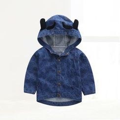 ciciibear - Kids Hooded Denim Top