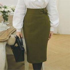 ode' - High-Waist Pencil Skirt