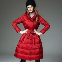 Y:Q - A-Line Long Padded Jacket