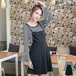 RingBear - Set: Striepd Tee + Dress