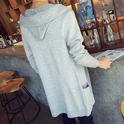 Breeson - Hooded Long Cardigan