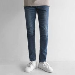 Seoul Homme - Washed Skinny Jeans